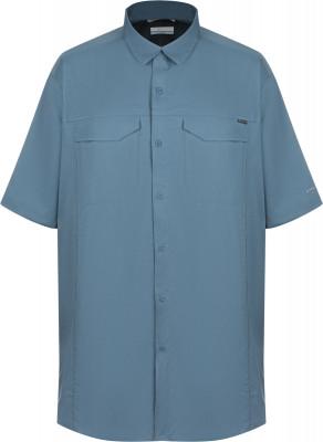 Рубашка с коротким рукавом мужская Columbia Silver Ridge Lite, Plus Size, размер 60-62