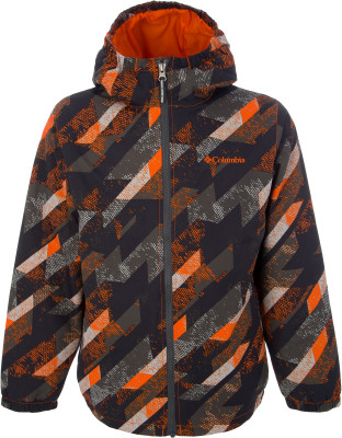 Куртка утепленная для мальчиков Columbia Meander Meadow, размер 150-157Куртки <br>Утепленная детская куртка из высококачественного нейлона отлично подходит для активного отдыха в прохладную погоду.