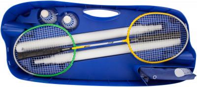 Купить со скидкой Набор для бадминтона Torneo (сетка со стойками, 2 ракетки, 2 волана, чехол)