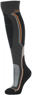 Гольфы Glissade, 1 параГорнолыжные носки glissade сделаны из высокотехнологичной смеси шерсти и акрила.<br>Пол: Мужской; Возраст: Взрослые; Вид спорта: Горные лыжи; Материалы: 53 % акрил, 23 % шерсть, 16 % нейлон, 5 % полиэстер, 2 % эластодиен, 1 % спандекс; Производитель: Glissade; Артикул производителя: G6UAK193S; Страна производства: Китай; Размер RU: 35-38;