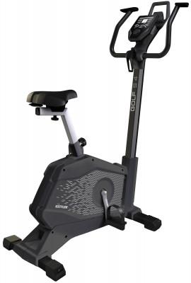 Kettler Golf S 47689-450Удобный и технологичный велотренажер для домашних кардиотренировок позволит разработать мышцы ног и пресса.<br>Система нагружения: Магнитная; Масса маховика: 6 кг; Регулировка нагрузки: Электронная; Нагрузка: 15 уровней; Измерение пульса: Датчики на поручнях; Нагрудный кардиодатчик: Опционально; Питание тренажера: Сеть: 220В; Максимальный вес пользователя: 130 кг; Время тренировки: Есть; Скорость: Есть; Пройденная дистанция: Есть; Уровень нагрузки: Есть; Скорость вращения педалей: Есть; Израсходованные калории: Есть; Пульс: Есть; Хранение данных о пользователях: 4 пользователя + гость; Контроль за верхним пределом пульса: Есть; Целевые тренировки (CountDown): Есть; Дополнительные функции: фитнес-тест; Общее количество тренировочных программ: 10; Пульсозависимые программы: 1; Пользовательские программы: Есть; Сиденье: BASIC FOAM; Регулировка руля: Есть; Регулировка сиденья: Вертикальная/Горизонтальная; Подставка для аксессуаров: Держатель для планшета/смартфона; Транспортировочные ролики: Есть; Компенсаторы неровности пола: Есть; Размер в рабочем состоянии (дл. х шир. х выс), см: 119 x 55 x 137; Вес, кг: 33; Вид спорта: Кардиотренировки; Технологии: KETTMAPS; Производитель: Kettler; Артикул производителя: 7689-450; Срок гарантии: 2 года; Страна производства: Германия; Размер RU: Без размера;