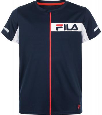 Футболка для мальчиков Fila, размер 128Одежда для мальчиков<br>Детская теннисная футболка, выполненная в классическом стиле fila, станет отличным выбором для юных спортсменов.