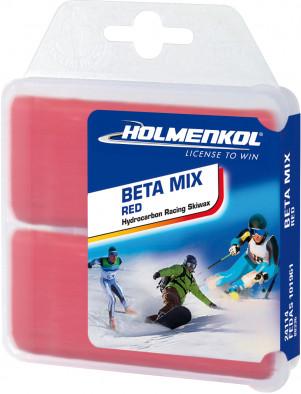 Мазь скольжения твердая для лыж и сноубордов HOLMENKOL Beta Mix Red