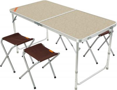 Набор Outventure: стол + 4 стулаСтолы<br>Удобный вариант мебели для кемпинга. Удобство хранения и транспортировки складная конструкция стола и стульев идеальна для транспортировки: стулья убираются в стол.