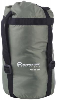 Компрессионный мешок Outventure, 27 лКомпрессионный мешок для упаковки спального мешка и мягких вещей. Утягивается стропами, экономит место в рюкзаке. Объ м: 27 литров.<br>Материалы: 100 % полиэстер; Размеры (дл х шир х выс), см: 55 х 25 х 25; Размер (Д х Ш), см: 55 х 25; Вес, кг: 0,15; Объем: 27 л; Вид спорта: Кемпинг, Походы; Производитель: Outventure; Артикул производителя: S046G4; Страна производства: Китай; Размер RU: Без размера;