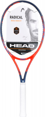 Ракетка для большого тенниса Head Graphene Touch Radical MPРакетки<br>Ракетка для опытных игроков от head сочетает в себе мощность и управляемость. Модель идеальна для агрессивного стиля и подходит для любых видов корта.