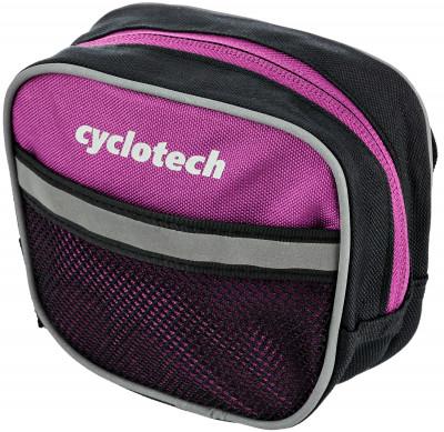 Велосипедная сумка CyclotechВелосипедная сумка. Особенности модели: крепление на руль; подходит для необходимых мелочей; размеры: 15 х 13 х 6 см; быстрая и легкая установка.<br>Объем: 0,1 л; Размеры (дл х шир х выс), см: 15 x 13 x 6; Материалы: Полиэстер; Вид спорта: Велоспорт; Производитель: Cyclotech; Артикул производителя: CYC-7VI; Страна производства: Китай; Размер RU: Без размера;