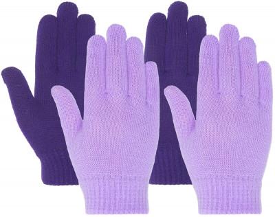 Перчатки для девочек IcePeakКомплект их 2-х пар вязанных перчаток icepeak предназначены для путешествий и активного отдыха.<br>Пол: Женский; Возраст: Дети; Вид спорта: Путешествие; Защита от ветра: Нет; Работа с сенсорным экраном: Нет; Дополнительная вентиляция: Нет; Производитель: IcePeak; Артикул производителя: 52855300XV; Страна производства: Китай; Материал верха: 95 % полиакрил, 5 % эластан; Размер RU: Без размера;