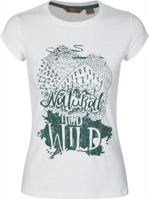 Футболка женская Outventure, размер 54Футболки<br>Отличный вариант для прогулок и путешествий - удобная футболка от outventure.