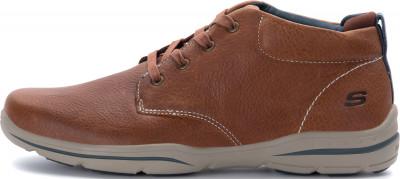 Полуботинки мужские Skechers Harper-Melden, размер 42Полуботинки<br>Комфортные мужские полуботинки с верхом из кожи - отличный вариант для поездок и долгих прогулок.