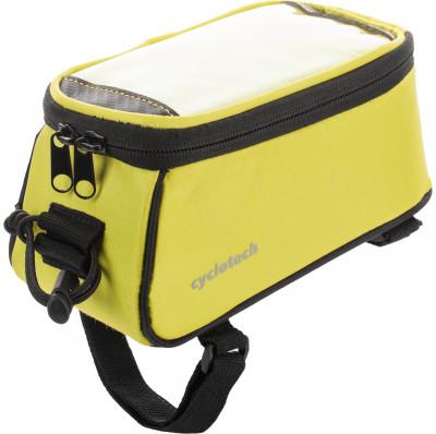 Сумка на руль велосипеда CyclotechВелосипедная сумка cyclotech.<br>Размеры (дл х шир х выс), см: 18 x 9 x 9; Материалы: 100 % полиэстер; Производитель: Cyclotech; Артикул производителя: CYC-22GR.; Страна производства: Китай; Размер RU: Без размера;