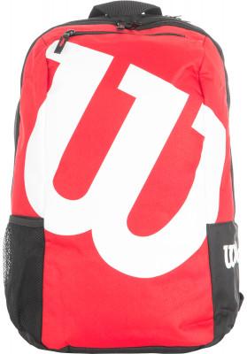 Рюкзак Wilson Match IIWilson match - это рюкзак, который нужен каждому теннисисту. Огромный логотип показывает приверженность к бренду и говорит о том, что его владелец очень стильный человек.<br>Размеры (дл х шир х выс), см: 34,3 x 20,3 x 45; Материал верха: 100 % полиамид; Материал подкладки: 100 % полиамид; Вид спорта: Большой теннис; Срок гарантии: 1 год; Производитель: Wilson; Артикул производителя: WRZ820695; Страна производства: Китай; Размер RU: Без размера;