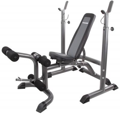 Силовая скамья со стойками Torneo Ultra BenchСиловая скамья со свободными весами разработана специально для укрепления различных групп мышц плеч, рук, груди и ног.<br>Тренируемые группы мышц: Руки, плечи, грудь, ноги; Максимальная нагрузка на стойки для штанги, кг: 150; Максимальный вес пользователя: 200 кг; Регулировки: Наклон спинки, положение сиденья, высота стойки; Особенности: Блины и грифы не входят в комплект; Расстояние между стойками: 99 см; Размер в рабочем состоянии (дл. х шир. х выс), см: 175 х 79 х 73; Размер в сложенном виде (дл. х шир. х выс), см: 151 х 79 х 114; Вес, кг: 41; Вид спорта: Силовые тренировки; Технологии: ErgoPad, EverProof; Производитель: Torneo; Артикул производителя: G-434; Срок гарантии: 2 года; Страна производства: Китай; Размер RU: Без размера;