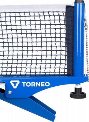 Сетка для настольного тенниса с креплением TorneoХлопчатобумажная сетка с металлическим креплением к столу. Система крепления - клипса.<br>Вид спорта: Настольный теннис; Производитель: Torneo; Артикул производителя: TI-NS3000; Срок гарантии: 6 месяцев; Страна производства: Китай; Размер RU: Без размера;