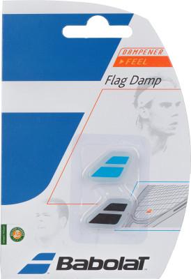 Виброгаситель Babolat Flag Damp x 2Виброгасители<br>Набор из двух виброгасителей от babolat. На виброгасители нанесены фирменные логотипы бренда.