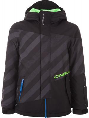 Куртка утепленная для мальчиков ONeill ThunderУтепленная куртка для сноубординга от o neill. Водонепроницаемая мембрана мембрана hyperdry надежно защищает от влаги.<br>Пол: Мужской; Возраст: Дети; Вид спорта: Сноубординг; Вес утеплителя на м2: 100 г/м2; Наличие мембраны: Да; Водонепроницаемость: 10 000 мм; Паропроницаемость: 10 000 г/м2/24 ч; Защита от ветра: Да; Отверстие для большого пальца в манжете: Да; Покрой: Свободный; Дополнительная вентиляция: Нет; Проклеенные швы: Да; Длина куртки: Средняя; Капюшон: Не отстегивается; Мех: Отсутствует; Снегозащитная юбка: Да; Количество карманов: 5; Карман для маски: Да; Карман для Ski-pass: Да; Выход для наушников: Нет; Водонепроницаемые молнии: Да; Артикулируемые локти: Да; Технологии: FIREWALL, HyperDry; Производитель: ONeill; Артикул производителя: 7P0080; Страна производства: Вьетнам; Материал верха: 100 % полиэстер; Материал подкладки: 60 % полиамид, 40 % полиэстер; Материал утеплителя: 100 % полиэстер; Размер RU: 140;