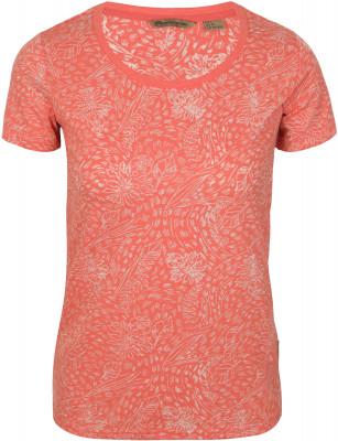 Футболка женская Outventure, размер 50Футболки<br>Женская футболка с коротким рукавом - идеальный вариант для летних прогулок и путешествий. Натуральные материалы в составе ткани преобладает натуральный хлопок.