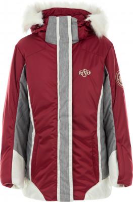 Куртка утепленная для девочек GlissadeТеплая куртка для девочек glissade - отличный выбор для катания на горных лыжах.<br>Пол: Женский; Возраст: Дети; Вид спорта: Горные лыжи; Вес утеплителя на м2: 150 г/м2; Наличие мембраны: Да; Гигроскопичность: Да; Регулируемые манжеты: Нет; Водонепроницаемость: 3000 мм; Защита от ветра: Да; Покрой: Приталенный; Дополнительная вентиляция: Нет; Проклеенные швы: Да; Длина куртки: Короткая; Датчик спасательной системы: Нет; Наличие карманов: Да; Капюшон: Отстегивается; Мех: Искусственный; Снегозащитная юбка: Да; Количество карманов: 3; Карман для маски: Нет; Карман для Ski-pass: Да; Выход для наушников: Да; Водонепроницаемые молнии: Нет; Артикулируемые локти: Да; Совместимость со шлемом: Нет; Технологии: IsoDry, Isoloft; Производитель: Glissade; Артикул производителя: SJAG00R415; Страна производства: Китай; Материал верха: 100 % полиэстер; Материал подкладки: 100 % полиэстер; Материал утеплителя: 100 % полиэстер, искусственный мех: 100 % акрил; Размер RU: 152;