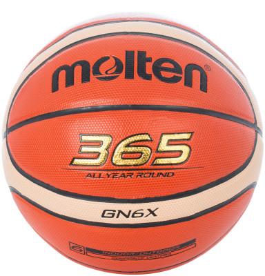 Мяч баскетбольный MoltenМаксимальный контроль! 365 all year round - подходит как для тренировок в зале, так и для игр на свежем воздухе.<br>Возраст: Взрослые; Вид спорта: Баскетбол; Тип поверхности: Универсальные; Назначение: Тренировочные; Материал покрышки: Синтетическая кожа; Материал камеры: Бутил; Способ соединения панелей: Клееный; Количество панелей: 12; Вес, кг: 0,56; Производитель: Molten; Артикул производителя: BGN6X; Срок гарантии: 2 года; Страна производства: Вьетнам; Размер RU: 6;