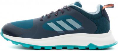 Фото 11 - Кроссовки женские для бега Adidas Response Trail X, размер 35,5 синего цвета
