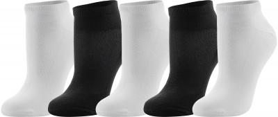 Носки Demix, 5 парУдобные и практичные носки от demix подойдут для бега. Высококачественная ткань приятна на ощупь и обеспечивает комфорт во время занятий спортом.<br>Пол: Мужской; Возраст: Взрослые; Вид спорта: Бег; Производитель: Demix Basic; Артикул производителя: AUCZ01BW39; Страна производства: Китай; Материалы: 66 % хлопок, 24 % полиэстер, 7 % нейлон, 3 % эластан; Размер RU: 39-42;