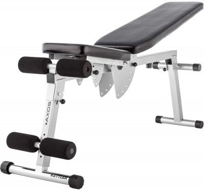 Скамья универсальная Kettler AxosУниверсальная скамья kettler axos станет удачным вариантом для тренировки мышц спины, пресса, рук, груди и плеч.<br>Тренируемые группы мышц: Руки, грудь, плечи, пресс, спина; Максимальная нагрузка, кг: 130; Максимальный вес пользователя: 130 кг; Регулировки: Наклон спинки, наклон сиденья, наклон скамьи; Складная конструкция: Есть; Размер в рабочем состоянии (дл. х шир. х выс), см: 140 x 45 x 120; Размер в сложенном виде (дл. х шир. х выс), см: 18 х 45 х 115; Вес, кг: 18; Вид спорта: Силовые тренировки; Производитель: Kettler; Артикул производителя: 7629-800; Срок гарантии: 2 года; Страна производства: Китай; Размер RU: Без размера;