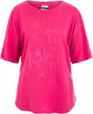 Футболка женская Freddy Slounge, размер 46-48Футболки<br>Яркая свободная футболка от freddy - отличный выбор для образа в спортивном стиле. Натуральные материалы модель выполнена из мягкого воздухопроницаемого хлопка.
