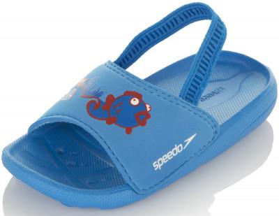 Шлепанцы для мальчиков Speedo AtamiДетские шлепанцы для бассейна в яркой цветовой комбинации. Дополнительный ремешок на пятке обеспечивает дополнительную фиксацию и комфортность использования.<br>Пол: Мужской; Возраст: Дети; Вид спорта: Плавание; Материал верха: 100 % этилвинилацетат; Материал подошвы: Этилвинилацетат; Технологии: ANTI-ODOUR; Производитель: Speedo; Артикул производителя: 8-069228730; Страна производства: Китай; Размер RU: 22,5-23;