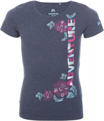 Футболка для девочек Outventure, размер 134Футболки и майки<br>Яркая футболка для девочек от outventure - удачный выбор для активного отдыха на природе. Комфортная посадка приталенный крой гарантирует удобство во время носки.