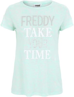 женская футболка freddy, зеленая