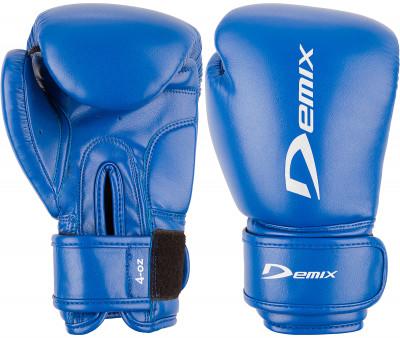 Перчатки боксерские детские DemixБоксерские перчатки из искусственной кожи. Многослойный наполнитель обеспечивает амортизацию и повторяет естественную форму кулака.<br>Вес, кг: 0,17; Тип фиксации: Липучка; Материал верха: Искусственная кожа; Материал наполнителя: Полиуретан; Материал подкладки: Полиэстер; Вид спорта: Бокс; Технологии: Memory Foam Demix; Производитель: Demix; Артикул производителя: DCS-202B6; Срок гарантии: 3 месяца; Страна производства: Пакистан; Размер RU: 6 oz;