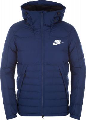 Куртка пуховая мужская Nike SportswearМужская куртка в спортивном стиле от nike. Сохранение тепла легкий пуховой наполнитель отлично защищает от холода.<br>Пол: Мужской; Возраст: Взрослые; Вид спорта: Спортивный стиль; Покрой: Прямой; Наличие карманов: Есть; Капюшон: Не отстегивается; Количество карманов: 2; Застежка: Молния; Производитель: Nike; Артикул производителя: 806855-429; Материал верха: 100 % полиэстер; Материал подкладки: 100 % полиэстер; Размер RU: 50-52;