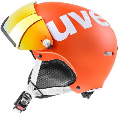 Шлем Uvex 500 VisorШлем с визором из поликарбоната от uvex. Защита конструкция hard shell делает шлем максимально прочным; визор защищает глаза от уф-лучей, ветра и снега.<br>Пол: Мужской; Возраст: Взрослые; Вид спорта: Горные лыжи; Конструкция: Hard shell; Вентиляция: Регулируемая; Сертификация: EN 1077 B; Регулировка размера: Есть; Тип регулировки размера: Поворотное кольцо; Материал внешней раковины: Пластик; Материал внутренней раковины: Пенополистирол; Материал подкладки: Полиэстер; Технологии: IAS, Natural Sound; Производитель: Uvex; Артикул производителя: 6213; Срок гарантии: 2 года; Страна производства: Германия; Размер RU: 59-61;