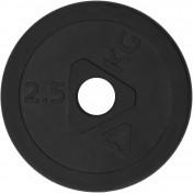 Блин Torneo стальной обрезиненный 2,5 кг