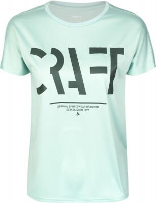 Футболка женская Craft Eaze, размер 42-44Футболки<br>Влагоотводящая футболка для пробежек от craft. Отведение влаги технологичная ткань обладает отличными влагоотводящими свойствами.