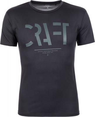 Футболка мужская Craft Eaze, размер 48-50Мужская одежда<br>Удобная беговая футболка от craft. Отведение влаги технологичная ткань обладает отличными влагоотводящими свойствами. Комфорт плоские швы не натирают кожу во время бега.
