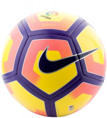 Мяч футбольный Nike Pitch-La LigaФутбольный мяч pitch-la liga от nike. Прочность дизайн из 32 панелей, соединенных машинной сшивкой, гарантирует долговечность. Покрышка выполнена из термополиуретана.<br>Сезон: 2017; Возраст: Взрослые; Вид спорта: Футбол; Тип поверхности: Универсальные; Назначение: Тренировочные; Материал покрышки: Синтетическая кожа; Материал камеры: Бутил; Способ соединения панелей: Машинная сшивка; Количество панелей: 32; Вес, кг: 0,44; Производитель: Nike; Артикул производителя: SC2992-702; Страна производства: Китай; Размер RU: 5;