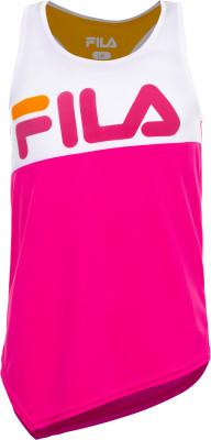 Футболка без рукавов для девочек Fila, размер 164Футболки и майки<br>Удобная футболка fila для юных любительниц фитнеса. Свобода движений свободный крой позволяет двигаться максимально естественно.