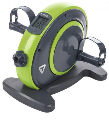 Мини-велотренажер Torneo DuoМини-велотренажер идеально подходит для домашниз кардиотренировок. Модель предназначена для тренировки мышц ног, рук, а также разработки двигательной функции суставов.<br>Система нагружения: Ременная; Масса маховика: 2 кг; Регулировка нагрузки: Механическая; Питание тренажера: Батарейки; Максимальный вес пользователя: 100 кг; Время тренировки: Есть; Скорость: Есть; Пройденная дистанция: Есть; Уровень нагрузки: Есть; Израсходованные калории: Есть; Размер в рабочем состоянии (дл. х шир. х выс), см: 40 х 30 х 33; Вес, кг: 6; Вид спорта: Кардиотренировки; Технологии: EverProof, ExaMotion; Производитель: Torneo; Артикул производителя: B-002G; Срок гарантии: 2 года; Страна производства: Китай; Размер RU: Без размера;