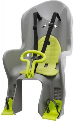 Детское велокресло SternДетское кресло для транспортировки детей на велосипеде особенности модели трехточечные ремни безопасности имеют дополнительный кронштейн, который фиксируется в районе груди<br>Регулировка подножки: Есть; Тип фиксации: Трехточечный ремень; Тип крепления: На багажник; Материалы: Пластик; Вид спорта: Велоспорт; Производитель: Stern; Артикул производителя: CKC-3.; Страна производства: Тайвань; Размер RU: Без размера;