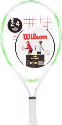 Ракетка для большого тенниса детская Wilson US OPEN 19Ракетки<br>Детская теннисная ракетка wilson us open. Яркий дизайн гарантирует хорошее настроение ребенка и желание играть каждый день. Рекомендуется детям в возрасте 3-4 лет.