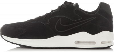 Кроссовки мужские Nike Air Max GuileКроссовки nike air max guile с верхом из замши станут отличным завершением спортивного образа.<br>Пол: Мужской; Возраст: Взрослые; Вид спорта: Спортивный стиль; Способ застегивания: Шнуровка; Материал верха: 96 % натуральная кожа, 4 % текстиль; Материал стельки: 100 % текстиль; Материал подошвы: 100 % резина; Производитель: Nike; Артикул производителя: 916770-001; Размер RU: 45;