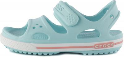 Сандалии для девочек Crocs Crocband II, размер 28Сандалии <br>Невероятно легкие, мягкие и удобные сандалии croсband от crocs для детей - это комфорт и веселый яркий дизайн! Надежная фиксация застежка-липучка позволяет быстро надеть и н