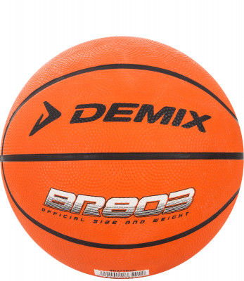 Мяч баскетбольный DemixБаскетбольный мяч 3 размера для детских тренировок и игры в зале и на улице. Выполнен из зернистой резины. Классическая 8-ми панельная конструкция.<br>Сезон: 2017; Возраст: Взрослые; Вид спорта: Баскетбол; Тип поверхности: Универсальные; Назначение: Любительские; Материал покрышки: Резина; Материал камеры: Резина; Способ соединения панелей: Клееный; Количество панелей: 8; Вес, кг: 0,280-0,330; Производитель: Demix; Артикул производителя: BR27103D25; Срок гарантии: 3 месяца; Страна производства: Китай; Размер RU: 3;