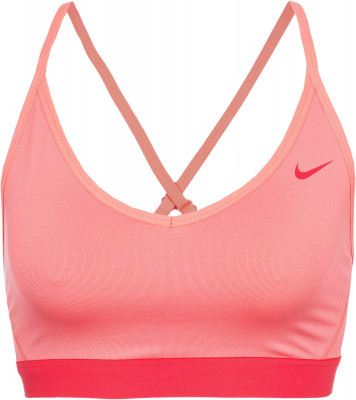 Бра Nike FavoritesБра для фитнеса nike favorites обеспечивает максимальный комфорт во время тренировок. Отведение влаги технология nike dri-fit гарантирует эффективный влагоотвод.<br>Пол: Женский; Возраст: Взрослые; Вид спорта: Фитнес; Уровень поддержки: Легкая; Тип чашек: Отсутствуют; Дополнительная вентиляция: Есть; Технологии: Nike Dri-FIT; Производитель: Nike; Артикул производителя: 832104-655; Страна производства: Шри-Ланка; Материалы: 88 % полиэстер, 12 % эластан; подкладка: 80 % полиэстер, 20 % эластан; Размер RU: 48-50;