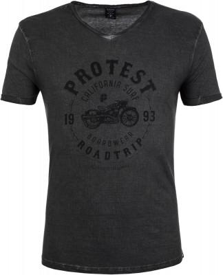 Футболка мужская Protest Lew, размер 54-56Surf Style <br>Мужская футболка protest для активного отдыха у воды в жаркие дни. Свобода движений прямой крой позволяет двигаться свободно и естественно.