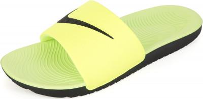 Шлепанцы для мальчиков Nike Kawa Slide, размер 36,5Шлепанцы <br>Шлепанцы для мальчиков nike kawa (gs ps) с мягким синтетическим ремешком подойдут для занятий плаванием в бассейне.
