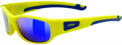 Солнцезащитные очки детские UvexОчки для детей и подростков от uvex обеспечивают прекрасный обзор и стопроцентную защиту от всех видов ультрафиолетового излучения благодаря фильтру 100% uva- uvb- uvc-prote<br>Цвет линз: Голубой зеркальный; Назначение: Активный отдых; Пол: Мужской; Возраст: Дети; Вид спорта: Активный отдых; Ультрафиолетовый фильтр: Да; Зеркальное напыление: Да; Материал линз: Поликарбонат; Оправа: Пластик; Технологии: 100% UVA- UVB- UVC-PROTECTION, LITEMIRROR; Производитель: Uvex; Артикул производителя: S5338657716; Срок гарантии: 1 месяц; Страна производства: Китай; Размер RU: Без размера;