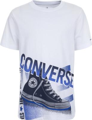 Купить Футболку для мальчиков Converse Chuck, размер 128 белого цвета