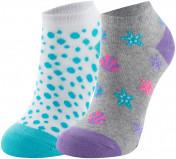 Носки для девочек Skechers, 2 пары